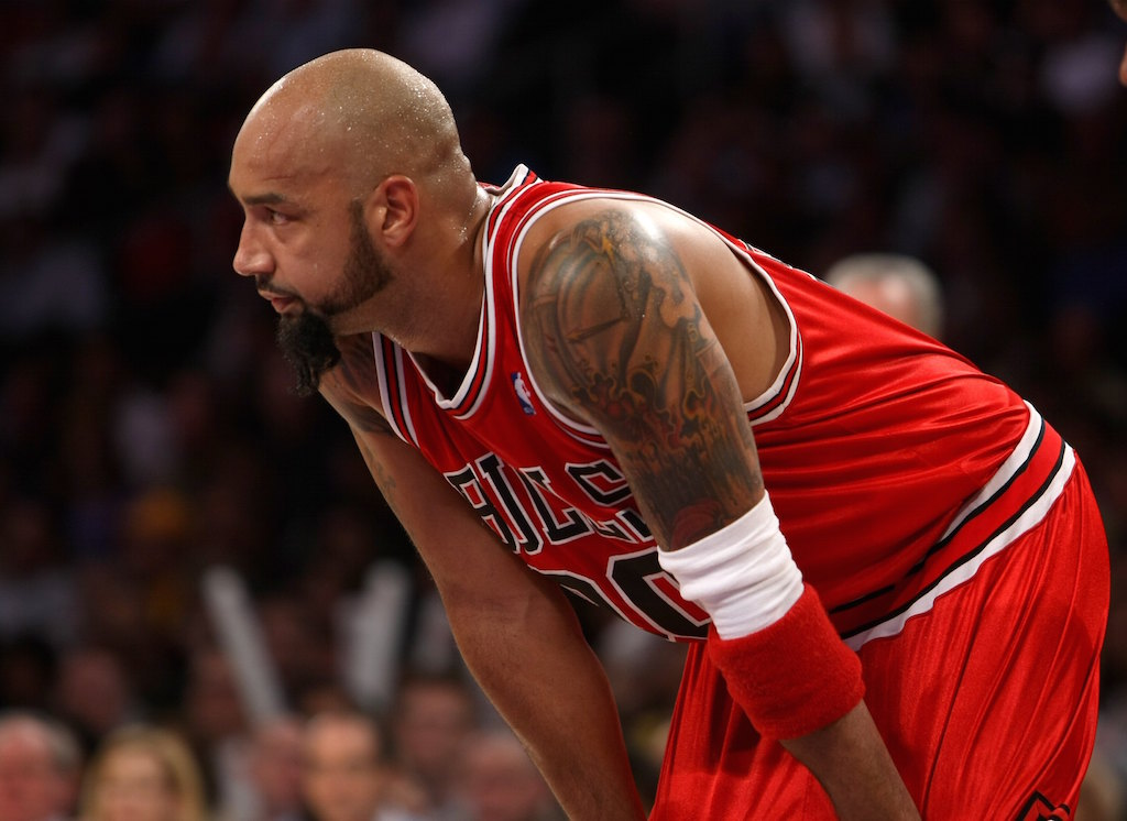Drew Gooden during a game against the Los Angeles Lakers
