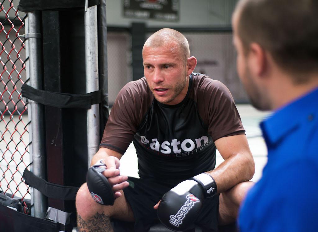 UFC lightweight contender Donald 'Cowboy' Cerrone speaks to the media. (Steve Snowden/Getty Images)