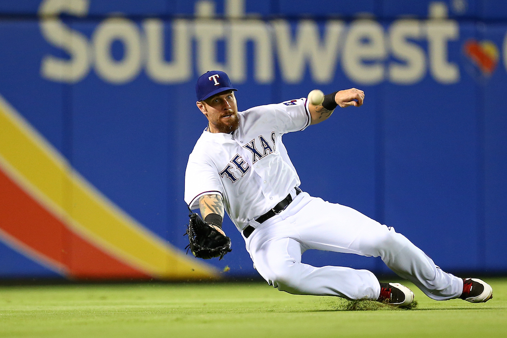 Josh Hamilton #32 of the Texas Rangers (Photo by Sarah Crabill/Getty Images)