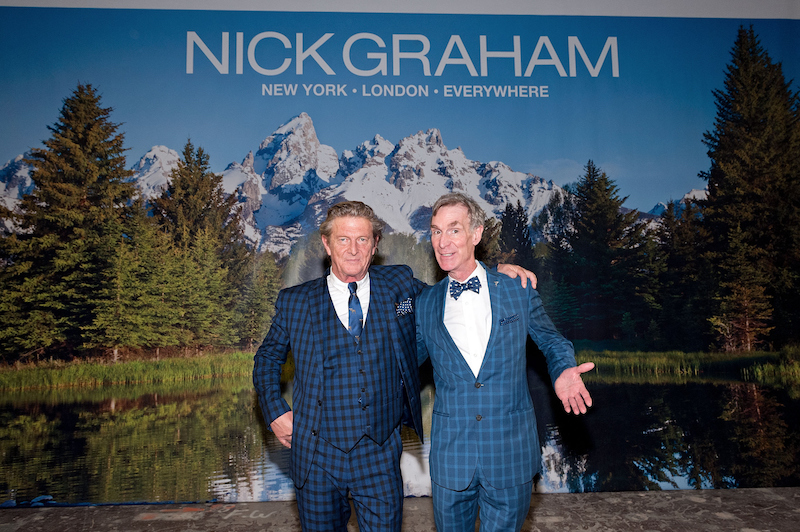 Bill Nye poses for a picture with Nick Graham.
