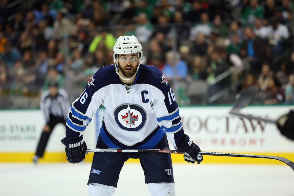 Andrew Ladd #16 of the Winnipeg Jets (Photo by Ronald Martinez/Getty Images)