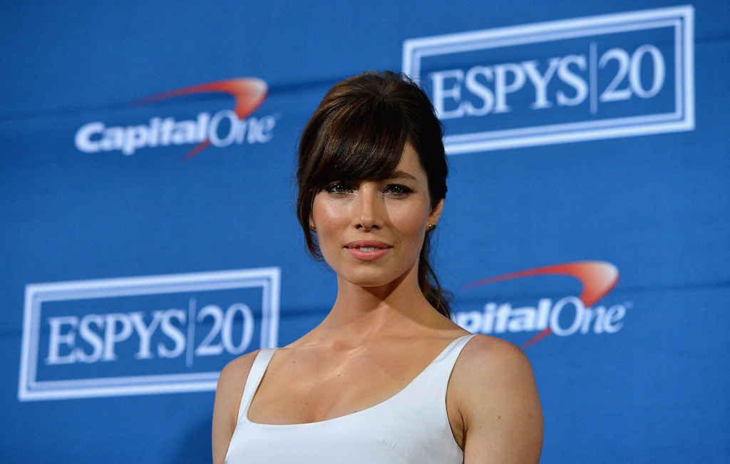 Actress Jessica Biel poses in the press room during the 2012 ESPY Awards