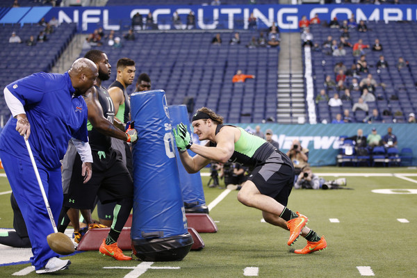 Joey Bosa shows off at the NFL Combine
