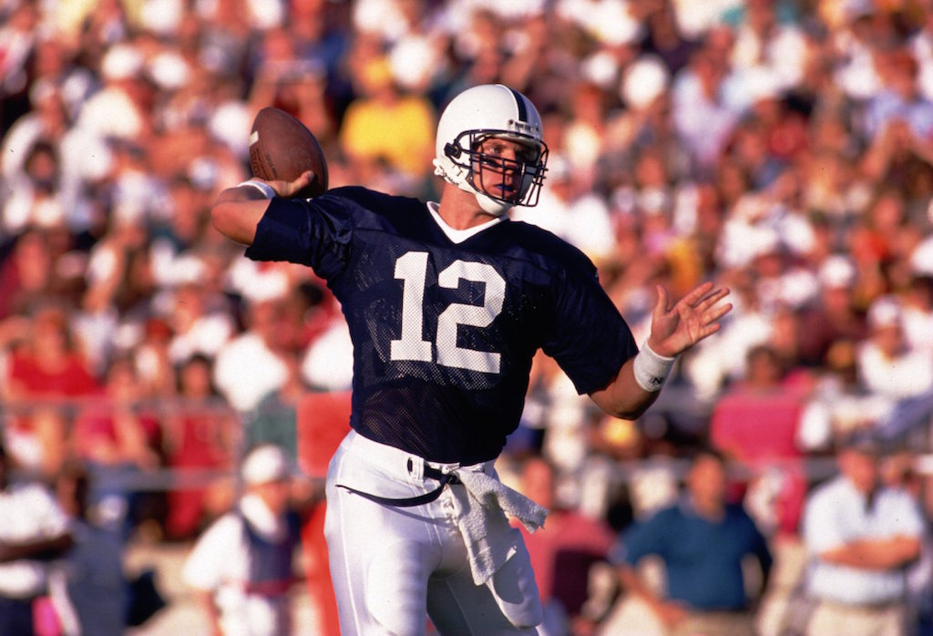 Penn State's Kerry Collins looks to throw