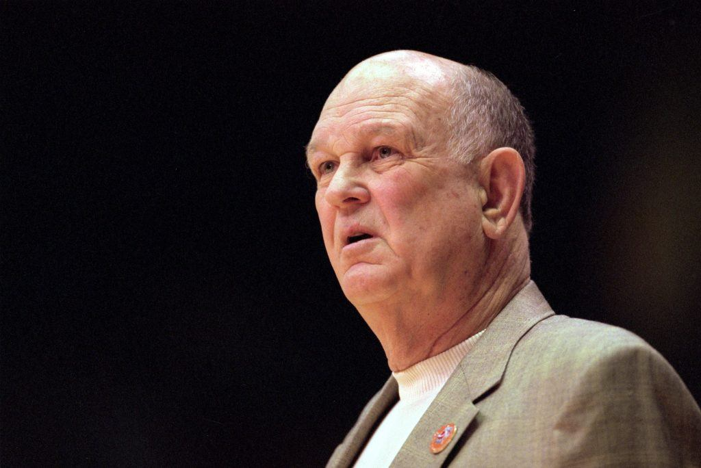 Lefty Driesell looks on critically.