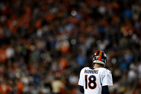 Peyton Manning on the field