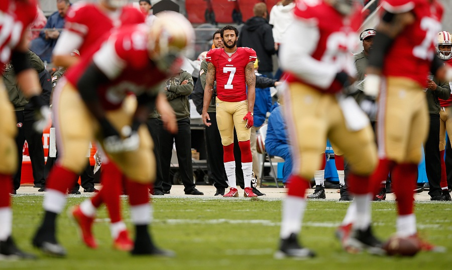 Colin Kaepernick #7 of the San Francisco 49ers in a NFL game