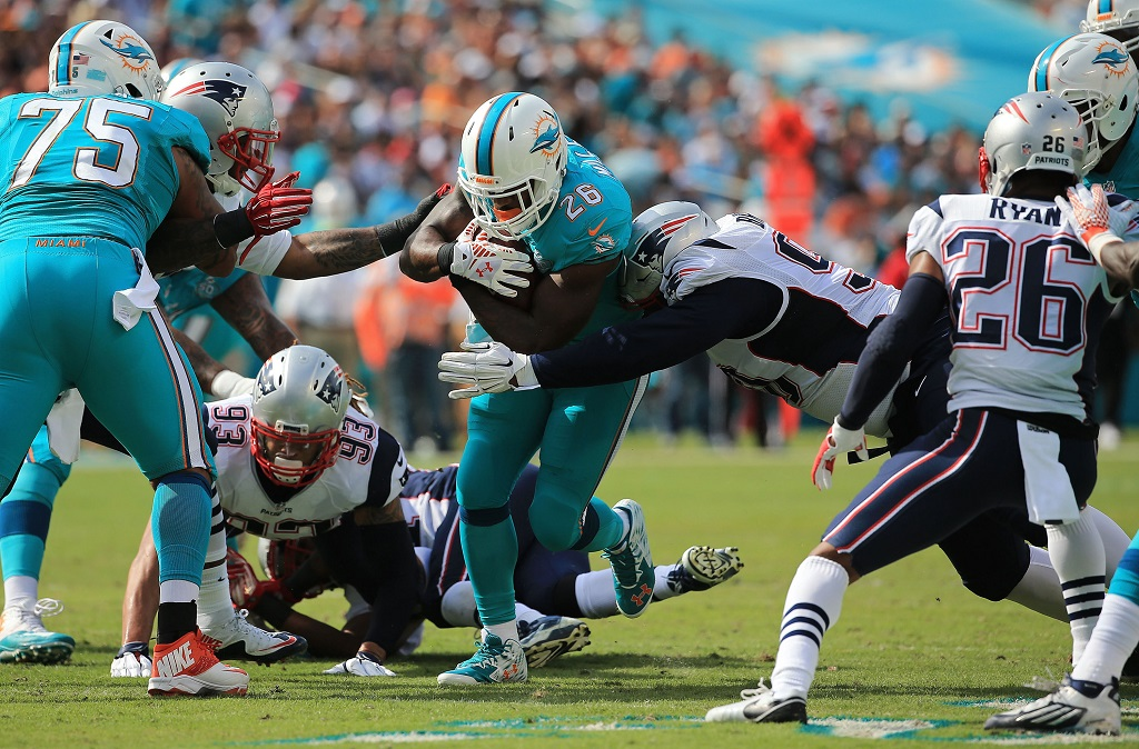 of the game at Sun Life Stadium on January 3, 2016 in Miami Gardens, Florida.