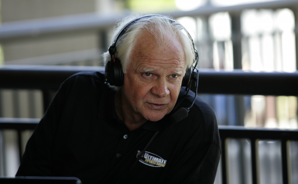 Ken Stabler during a radio broadcast during the first round of the Regions Charity Classic at the Robert Trent Jones Golf Trail at Ross Bridge in Hoover, Alabama. (Photo by Michael Cohen/Getty Images)