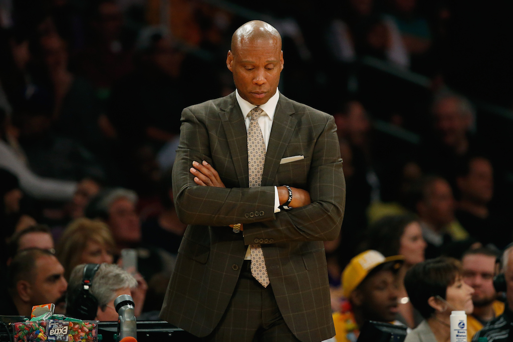 Byron Scott looks on during a game against the Bucks.