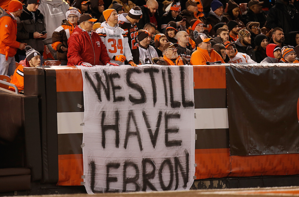 Cleveland Browns fans hold out hope that their team will still win a game | Gregory Shamus/Getty Images