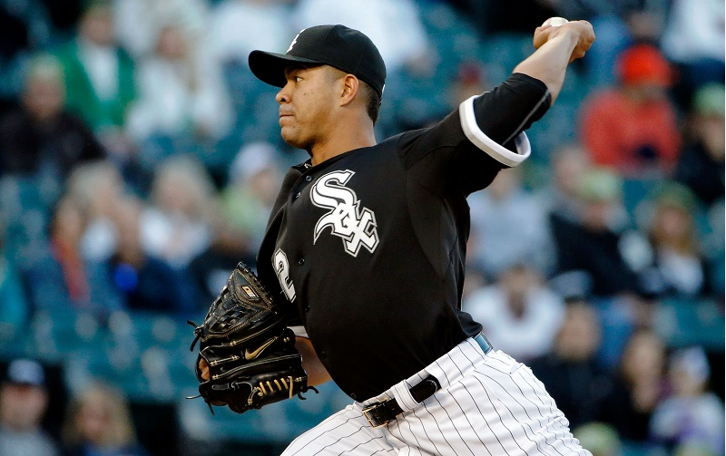 Jose Quintana at U.S. Cellular Field on September 12, 2015 in Chicago, Illinois.