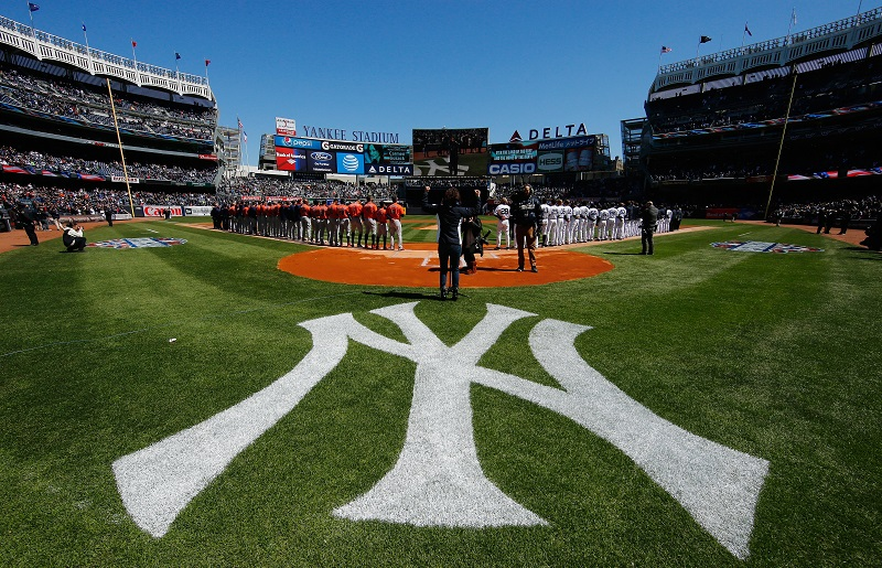 Opening Day at Yankee Stadium on April 5, 2016 in New York City