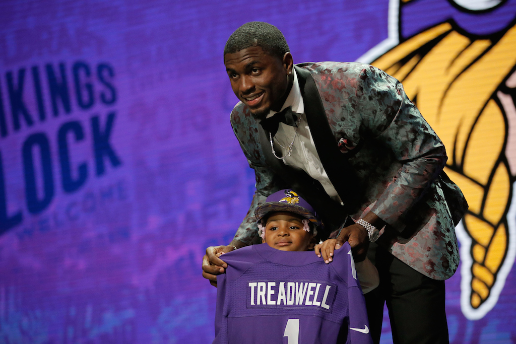 Laquon Treadwell is selected No. 23 by the Minnesota Vikings. | Jon Durr/Getty Images