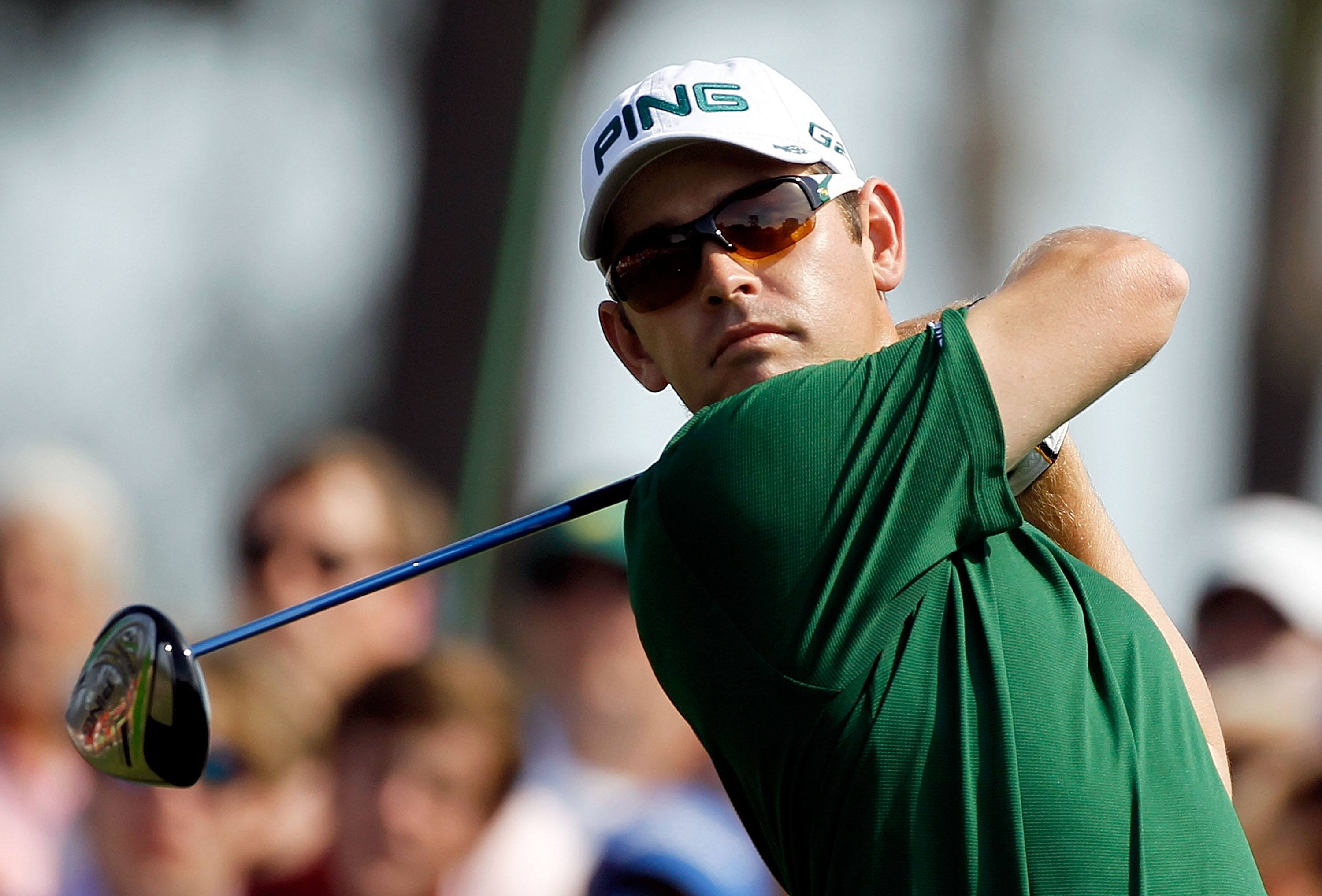 Louis Oosthuizen is about to make a mind-blowing shot.