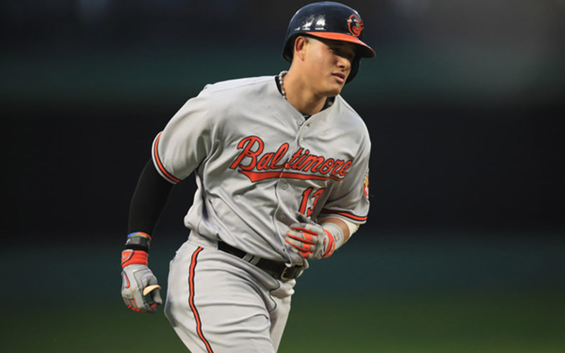 Manny Machado runs the bases.