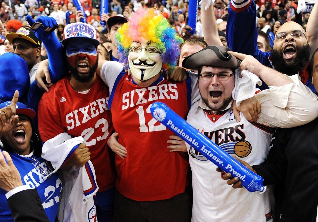 Philadelphia 76ers fans cheer