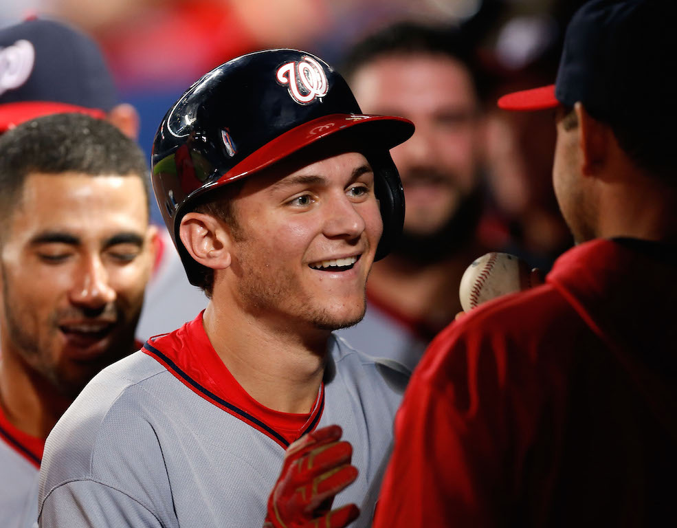 Second baseman Trea Turner #7 of the Washington Nationals (Photo by Mike Zarrilli/Getty Images)