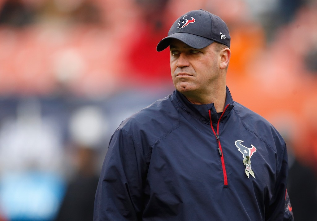 Bill O'Brien looks on during a game in 2016.