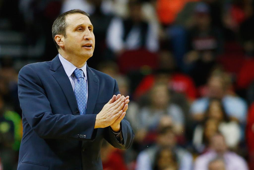Former Cavs coach David Blatt during a game against the Rockets. | Scott Halleran/Getty Images