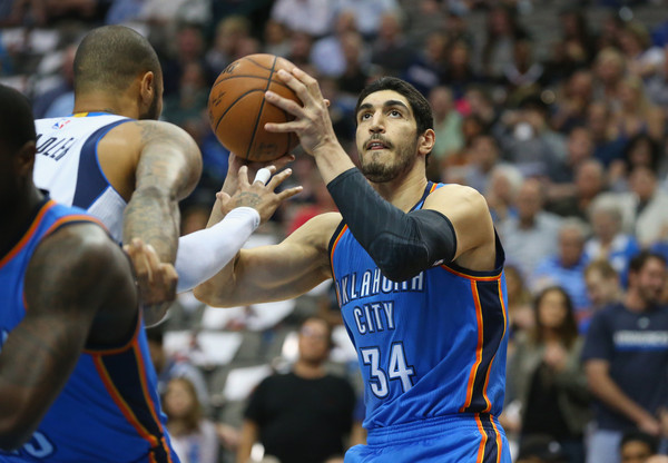 Enes Kanter goes for a two.