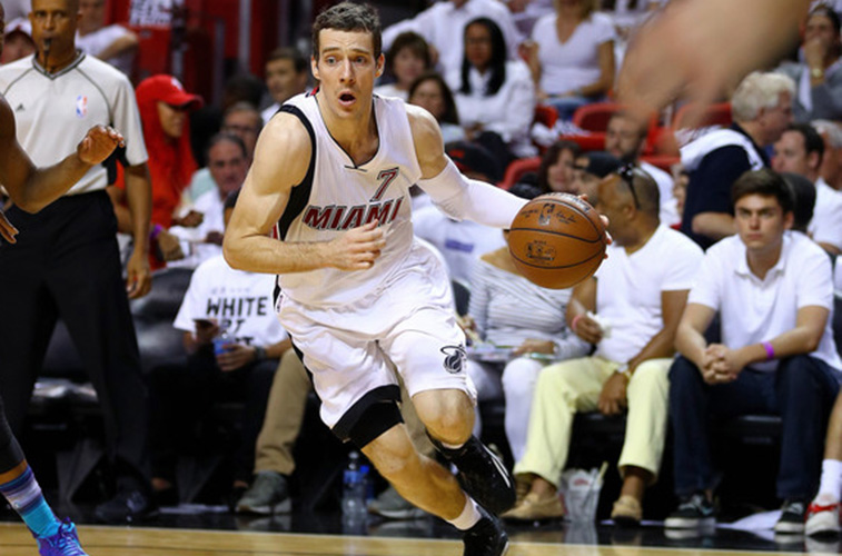 Goran Dragic plays for the Miami Heat.
