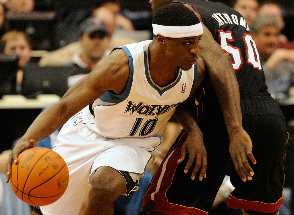 Jonny Flynn #10 of the Minnesota Timberwolves tries to make a play. | Hannah Foslien /Getty Images