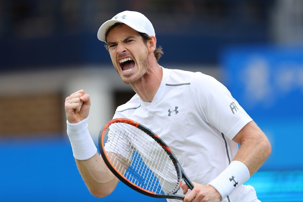 Andy Murray celebrates being awesome. | Richard Heathcote/Getty Images
