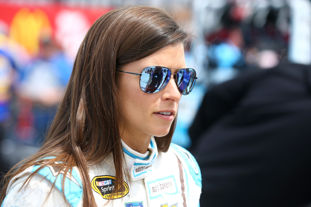 Danica Patrick during qualifying for the NASCAR Sprint Cup Series Duck Commander 500.