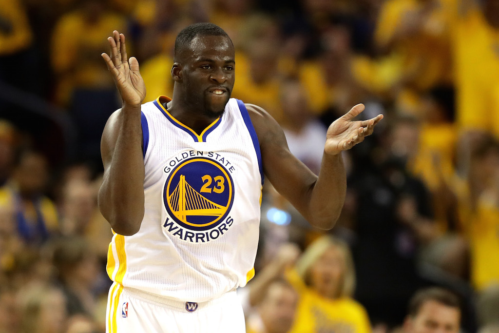 Draymond Green reacts during Game 2 of the 2016 NBA Finals.
