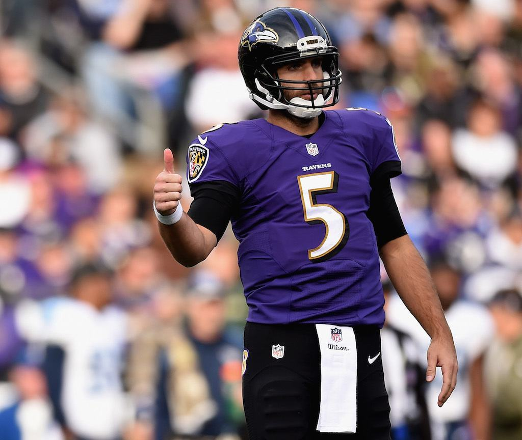 Rich NFL quarterback Joe Flacco