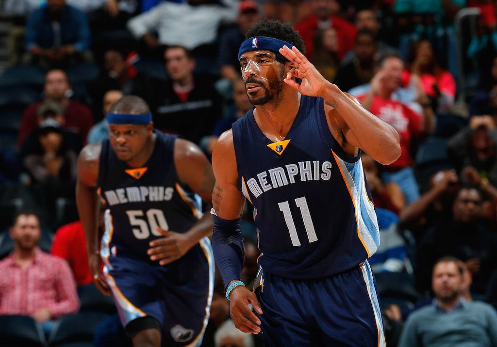Mike Conley #11 making that mask look good. | Kevin C. Cox/Getty Images