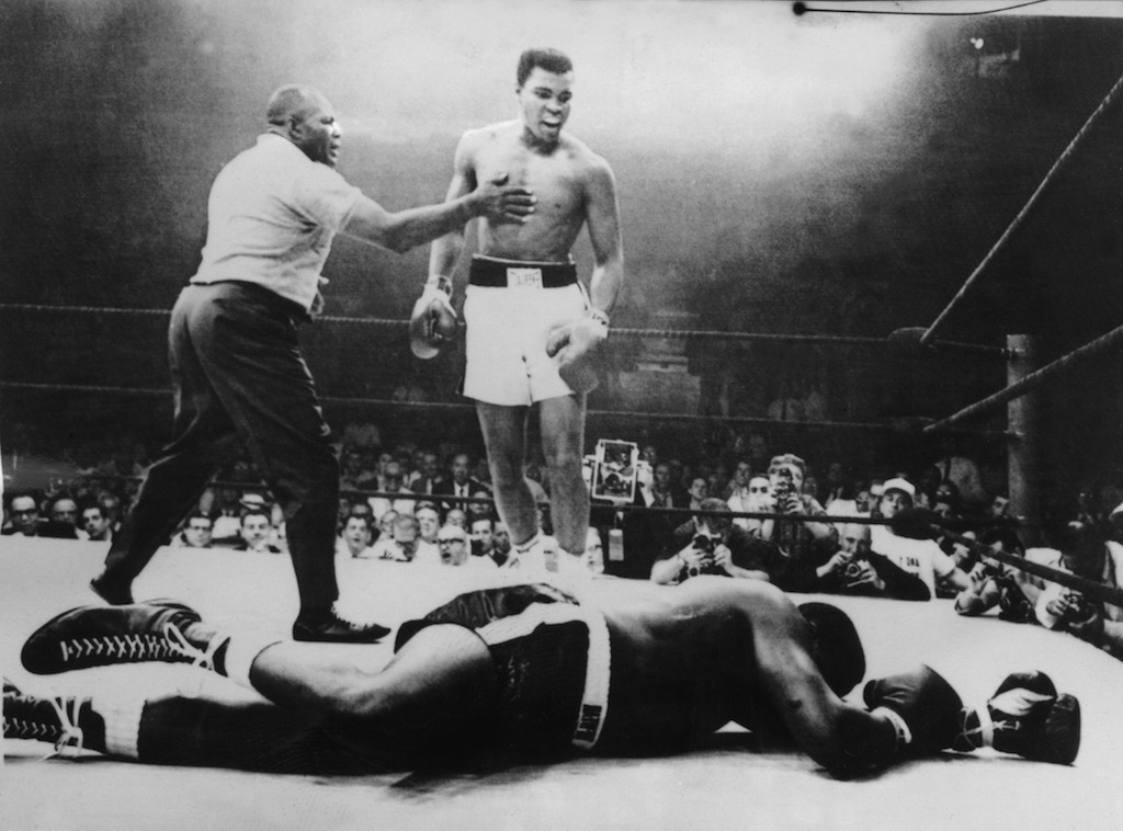 Muhammad Ali knocks out Sonny Liston.