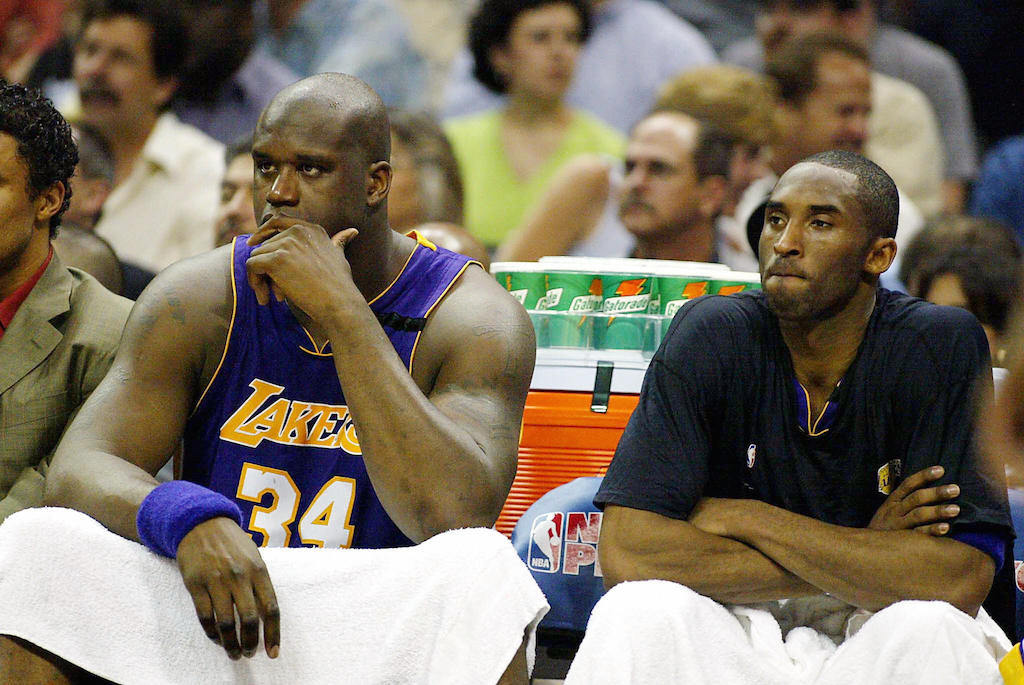 Shaquille O'Neal and Kobe Bryant didn't always get along.