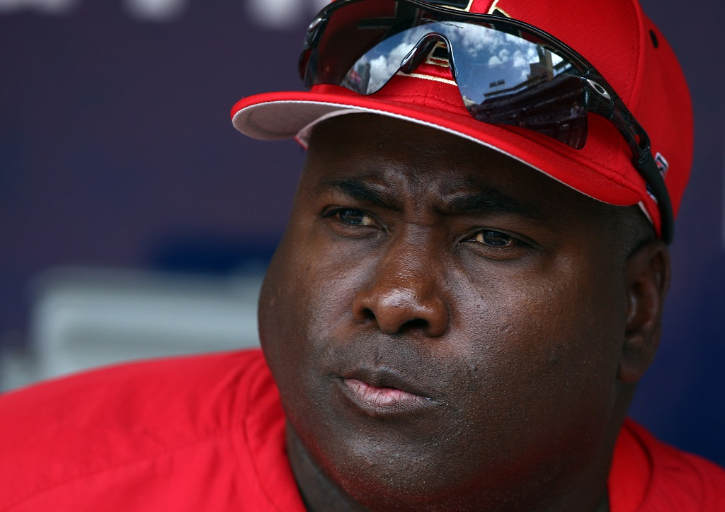 SAN DIEGO, CA- APRIL 3: Head Coach and MLB Hall of Famer Tony Gwynn of the San Diego State Aztecs looks on from the dugout against the UC Davis Aggies during their game on April 3, 2009 at Petco Park in San Diego, California. (Photo by Donald Miralle/Getty Images)
