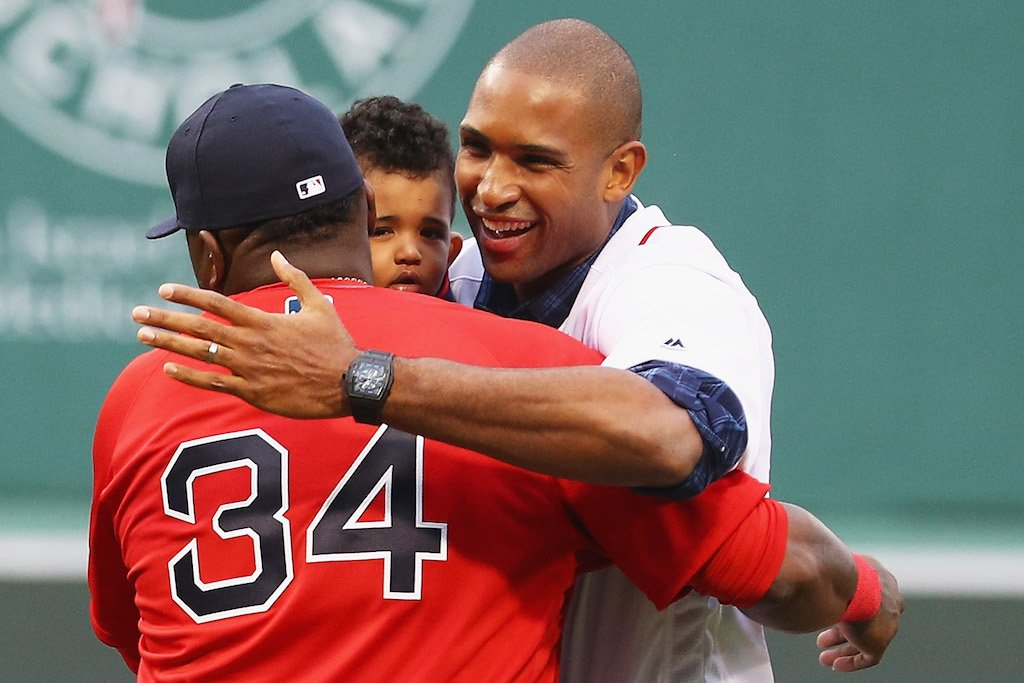 Big Papi welcomes Al Horford to Boston. | Maddie Meyer/Getty Images