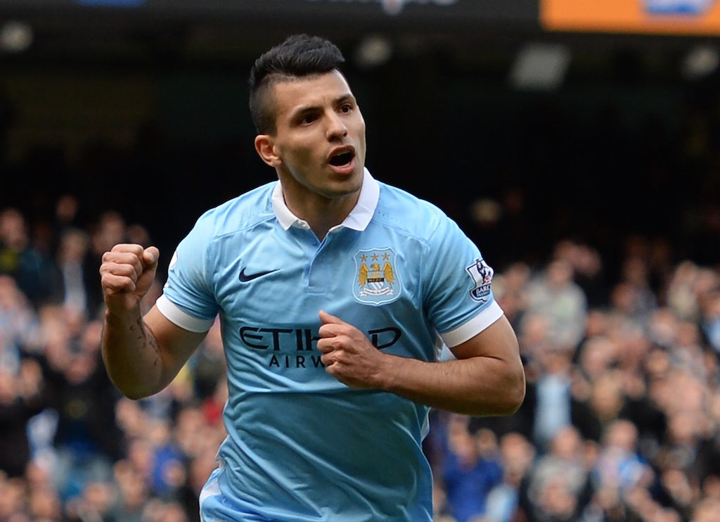 Manchester City's Sergio Aguero cannot be stopped. | OLI SCARFF/AFP/Getty Images
