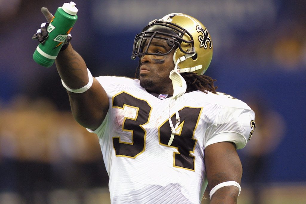 Ricky Williams was kind of a bust in New Orleans.