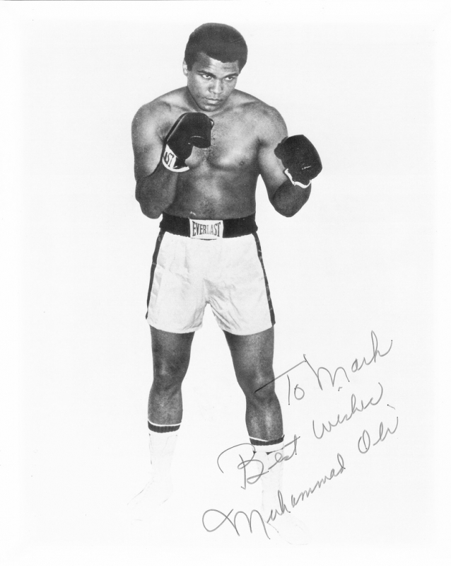 Muhammad Ali in stance