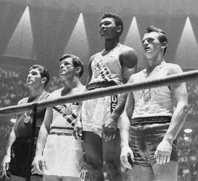 1960 Olympic podium