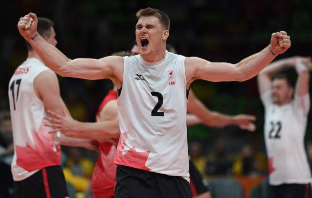 Canada beats USA in volleyball at the Rio Olympics | PEDRO UGARTE/AFP/Getty Images