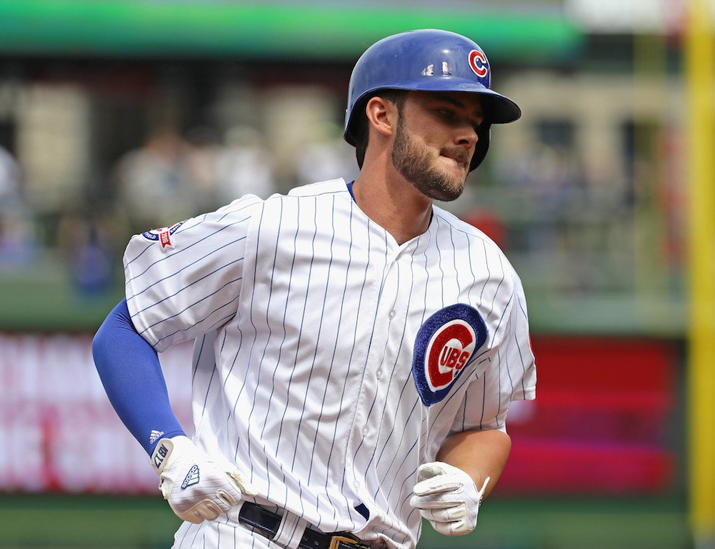 Kris Bryant playing forthe World Series Winner Chicago Cubs