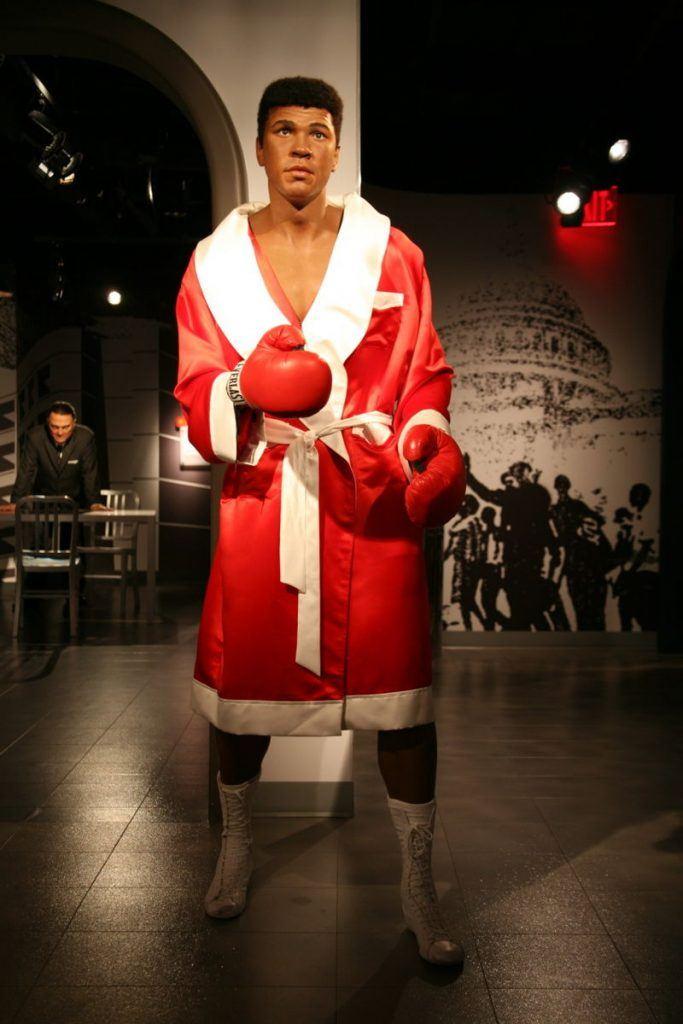 wax statue of Ali