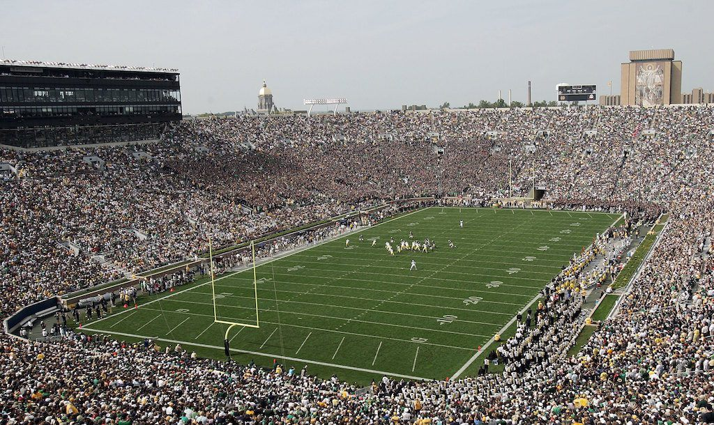 A general view of the Fighting Irish's stadium.