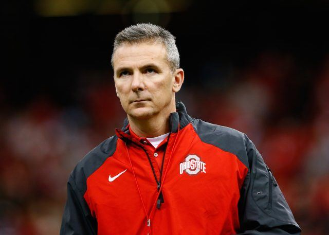 NEW ORLEANS, LA - JANUARY 01: Head coach Urban Meyer of the Ohio State Buckeyes looks on prior to the All State Sugar Bowl against the Alabama Crimson Tide at the Mercedes-Benz Superdome on January 1, 2015 in New Orleans, Louisiana. (Photo by Kevin C. Cox/Getty Images)