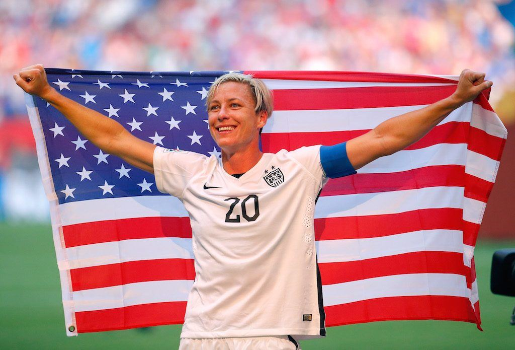 Abby Wambach has been publicly campaigning for Hillary Clinton all year | Kevin C. Cox/Getty Images