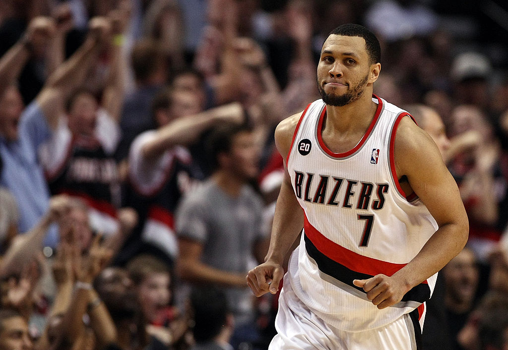 Brandon Roy #7 of the Portland Trail Blazers