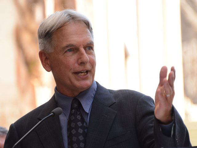 Mark Harmon talks at a media event.