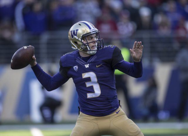 Thanks to Jake Browning, Washington is considered one of the top teams in the country | Stephen Brashear/Getty Images