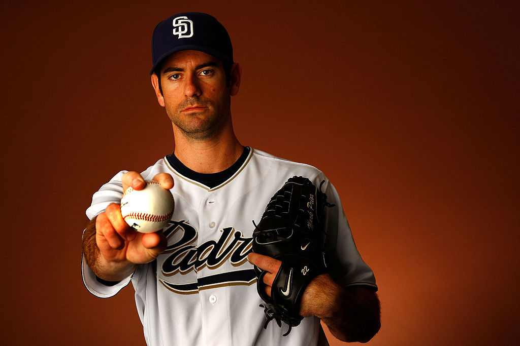 Pitcher Mark Prior #22 of the San Diego Padres poses for a portrait